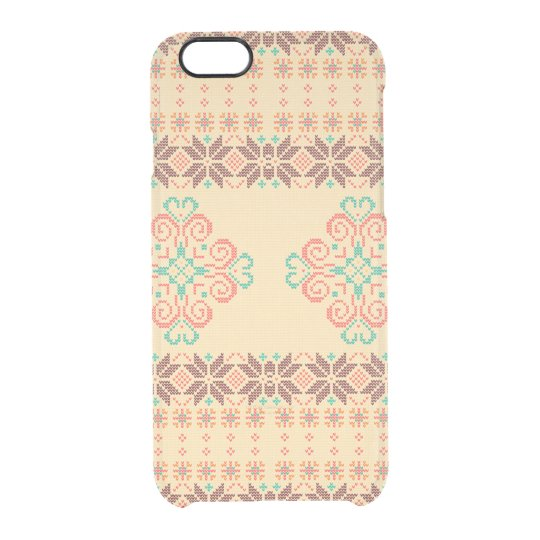 Christmas knitted pattern clear iPhone 6/6S case
