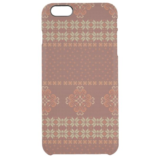 Christmas knitted pattern clear iPhone 6 plus case