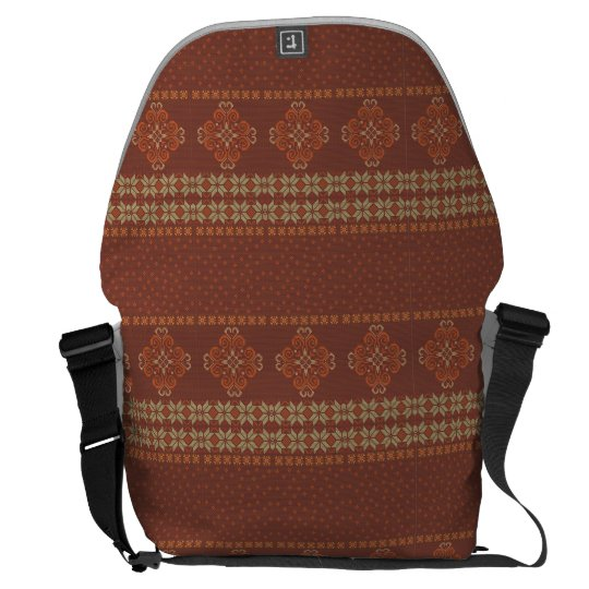 Christmas knitted pattern commuter bag