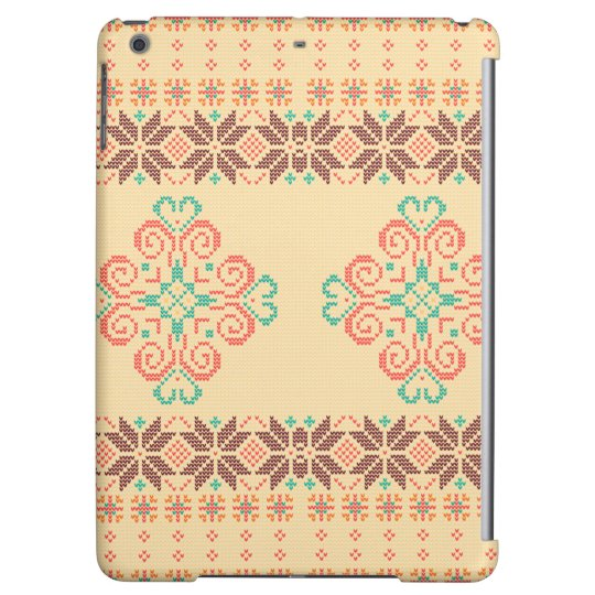 Christmas knitted pattern cover for iPad air