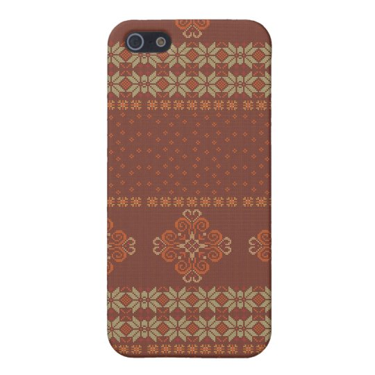 Christmas knitted pattern cover for iPhone 5/5S