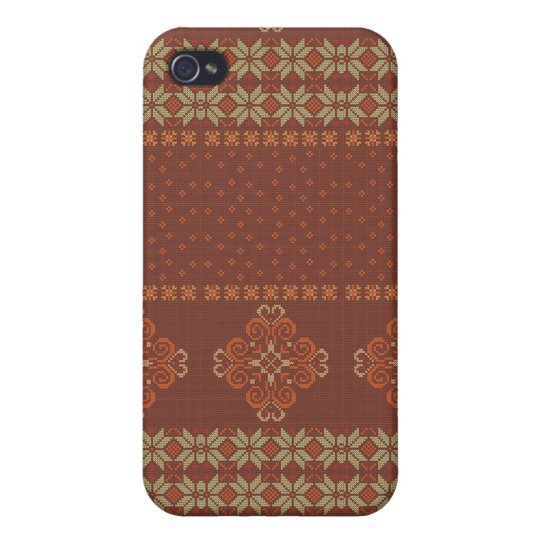 Christmas knitted pattern covers for iPhone 4