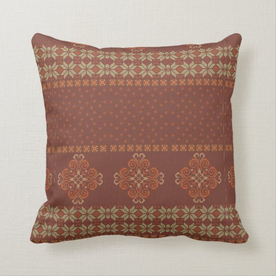 Christmas knitted pattern cushion