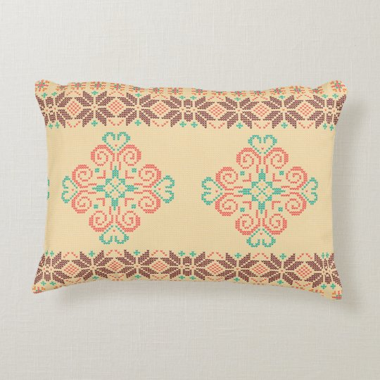 Christmas knitted pattern decorative cushion