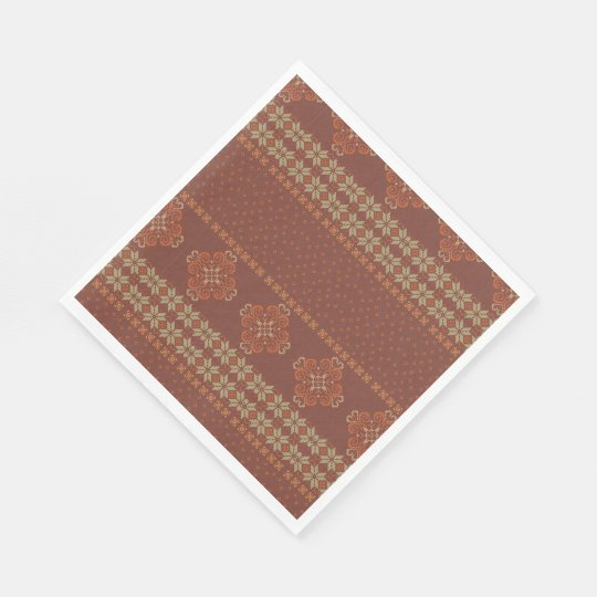 Christmas knitted pattern disposable napkin