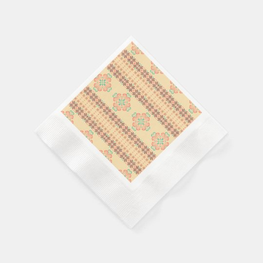 Christmas knitted pattern disposable serviette