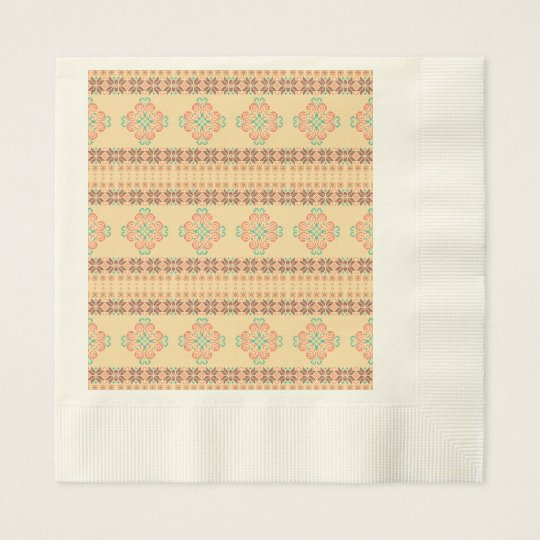 Christmas knitted pattern disposable serviettes