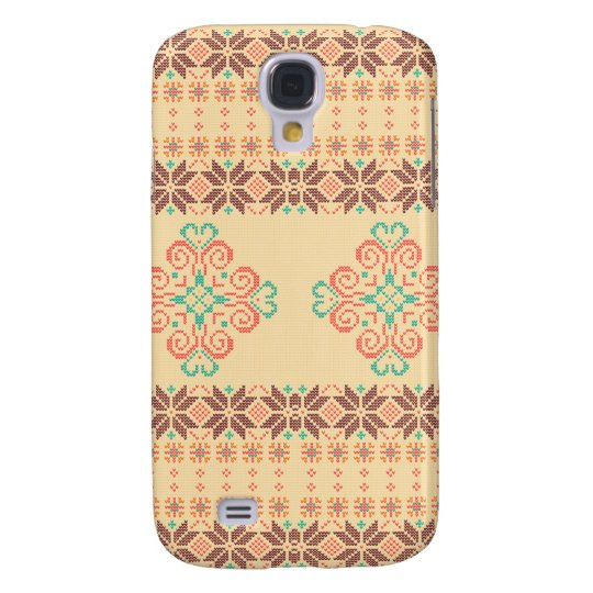 Christmas knitted pattern galaxy s4 cover