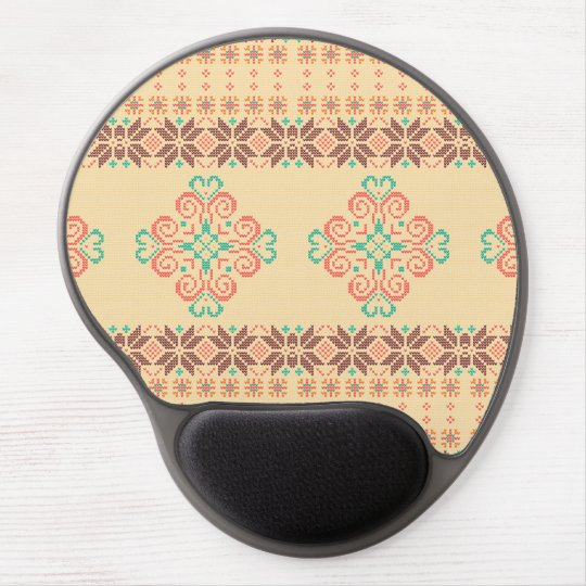 Christmas knitted pattern gel mouse pad