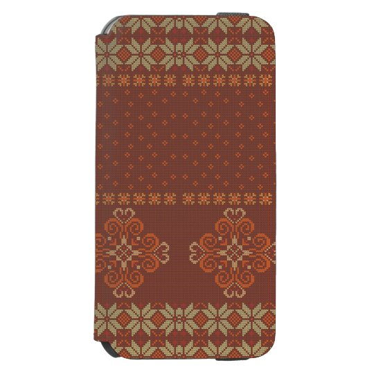 Christmas knitted pattern incipio watson™ iPhone 6 wallet case
