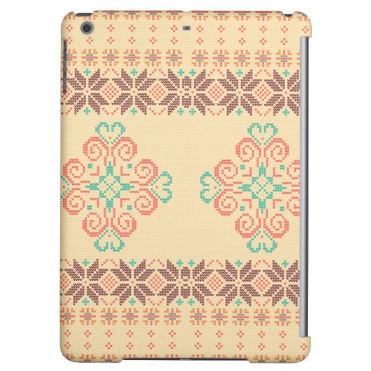 Christmas knitted pattern iPad air cover