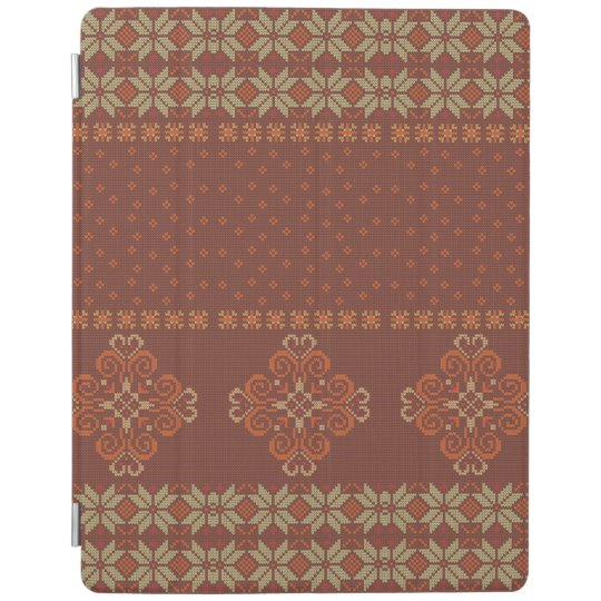 Christmas knitted pattern iPad cover
