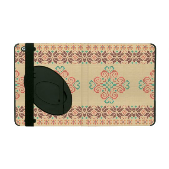 Christmas knitted pattern iPad folio case