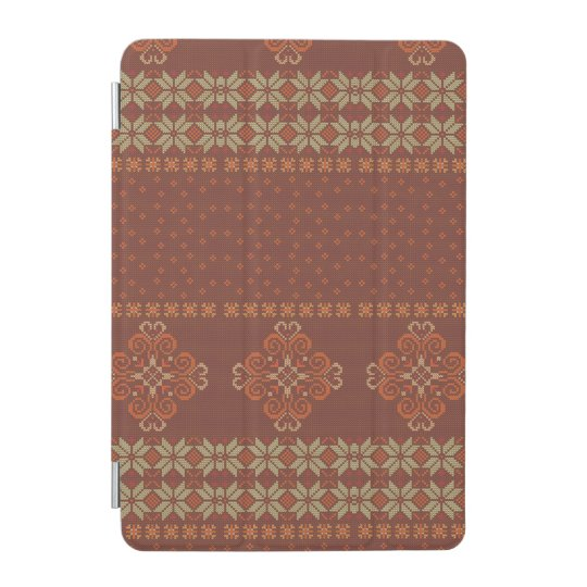 Christmas knitted pattern iPad mini cover