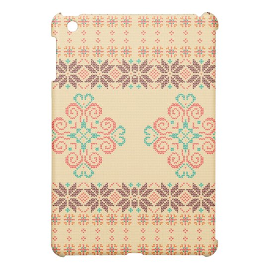 Christmas knitted pattern iPad mini covers