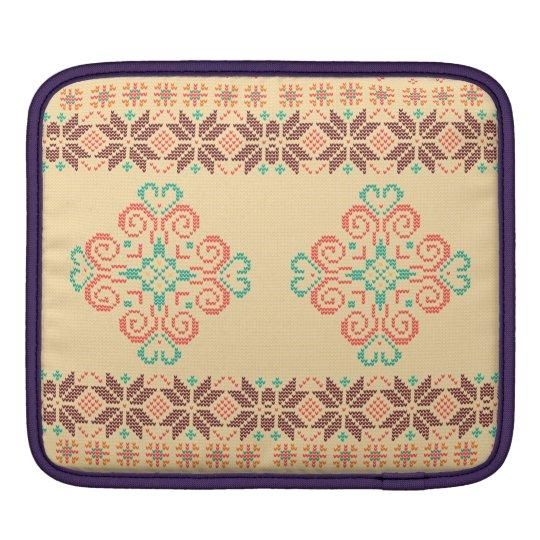 Christmas knitted pattern iPad sleeve
