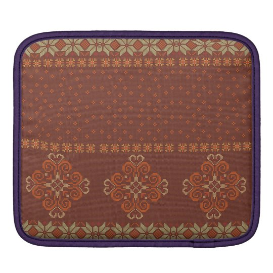 Christmas knitted pattern iPad sleeve