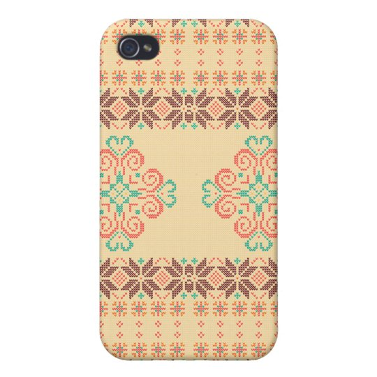 Christmas knitted pattern iPhone 4/4S cases