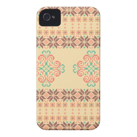 Christmas knitted pattern iPhone 4 Case-Mate cases