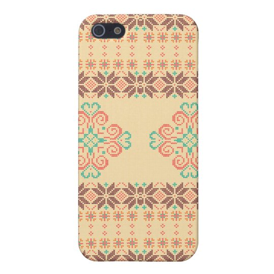 Christmas knitted pattern iPhone 5 cases