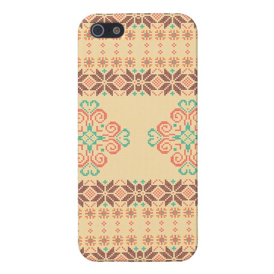Christmas knitted pattern iPhone 5 cover