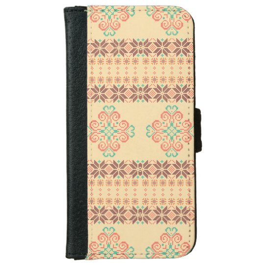 Christmas knitted pattern iPhone 6 wallet case