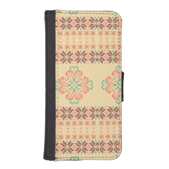 Christmas knitted pattern iPhone SE/5/5s wallet case