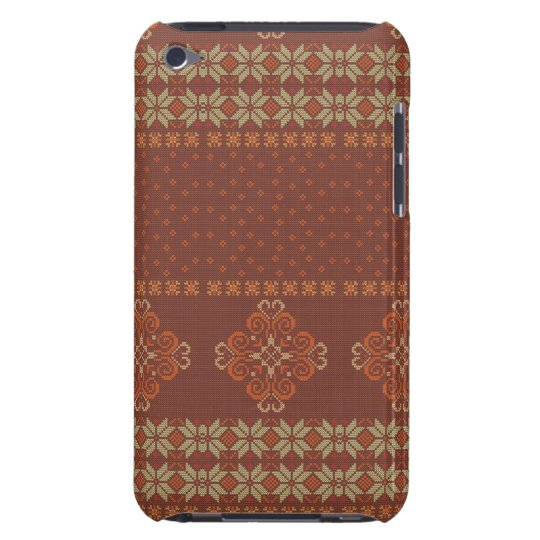 Christmas knitted pattern iPod touch case