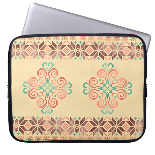 Christmas knitted pattern laptop sleeve
