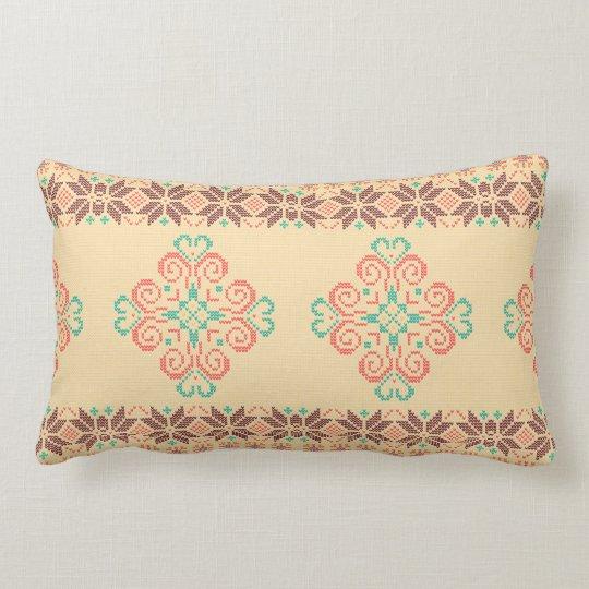 Christmas knitted pattern lumbar cushion