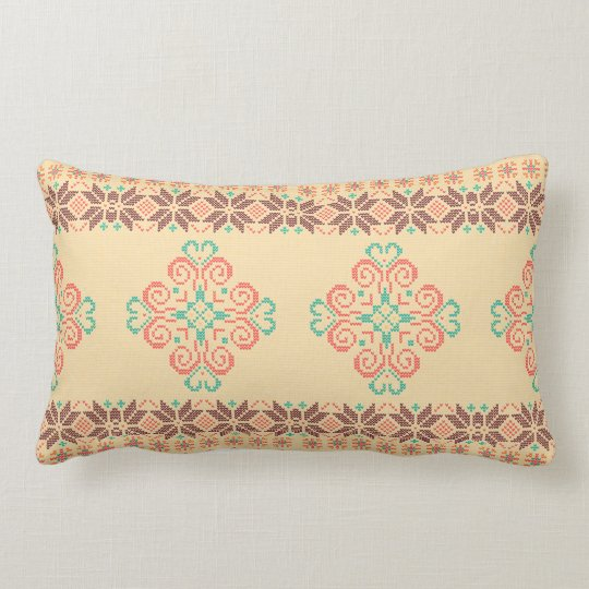 Christmas knitted pattern lumbar cushion