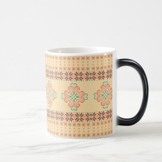 Christmas knitted pattern magic mug
