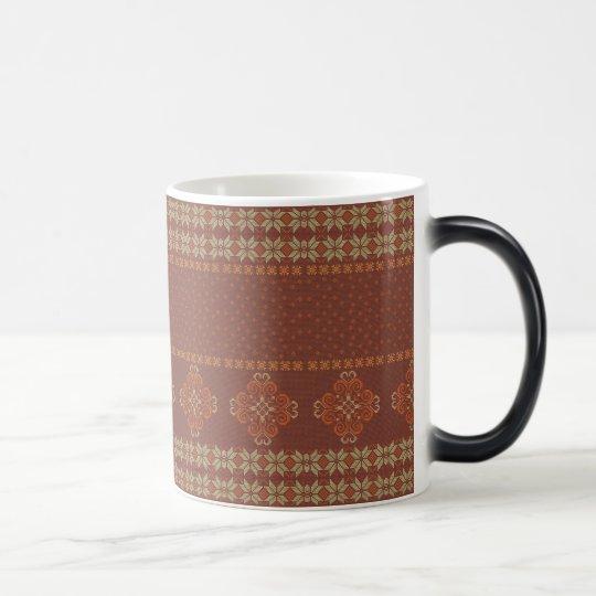 Christmas knitted pattern magic mug