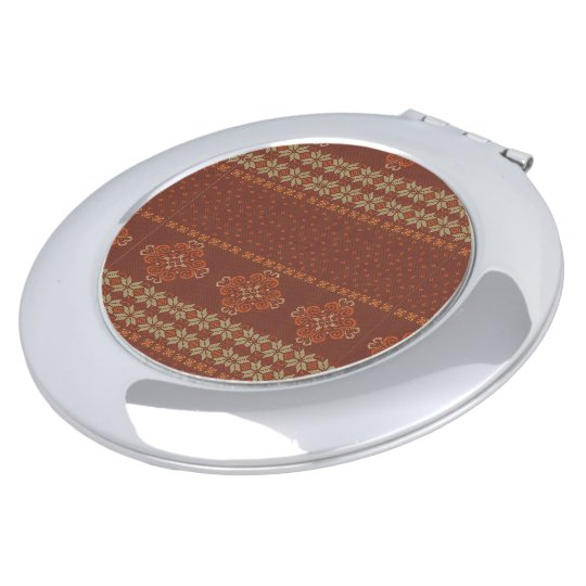 Christmas knitted pattern makeup mirror