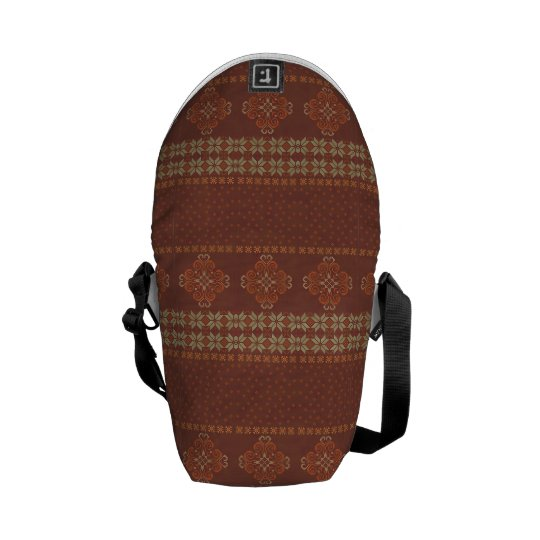 Christmas knitted pattern messenger bags