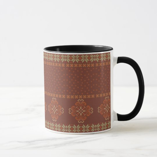 Christmas knitted pattern mug