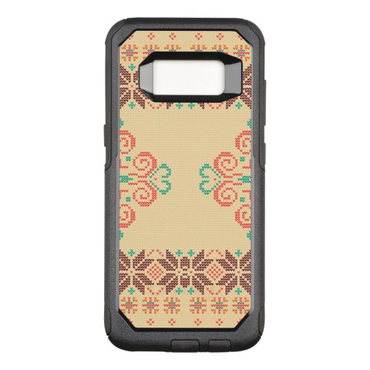 Christmas knitted pattern OtterBox commuter samsung galaxy s8 case