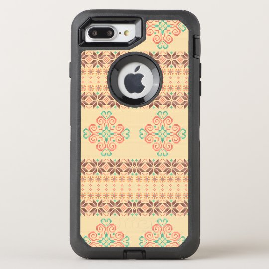 Christmas knitted pattern OtterBox defender iPhone 8 plus/7 plus case