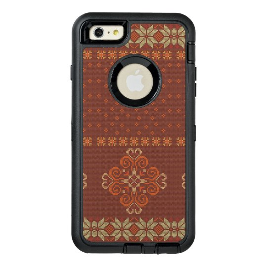 Christmas knitted pattern OtterBox defender iPhone case