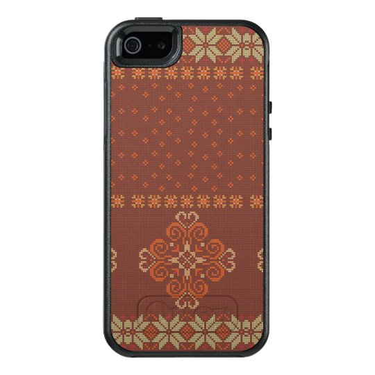 Christmas knitted pattern OtterBox iPhone 5/5s/SE case
