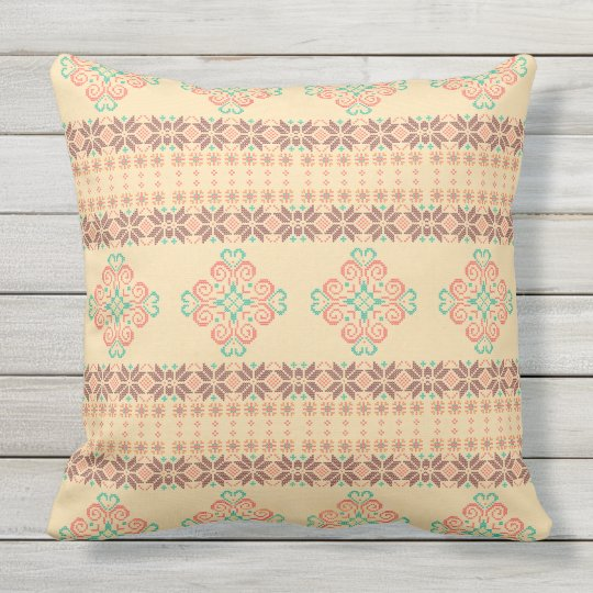 Christmas knitted pattern outdoor cushion