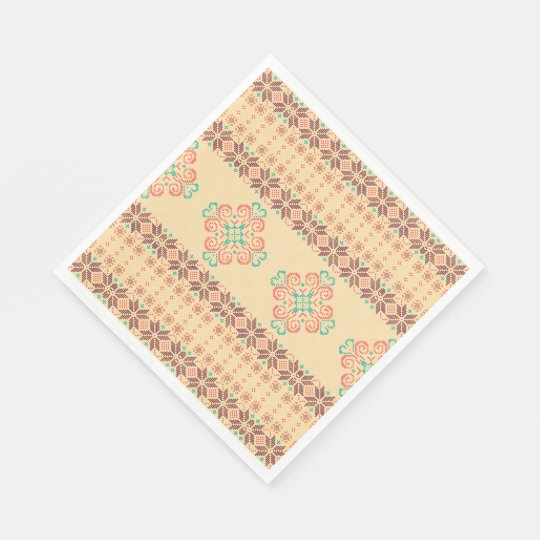 Christmas knitted pattern paper napkin