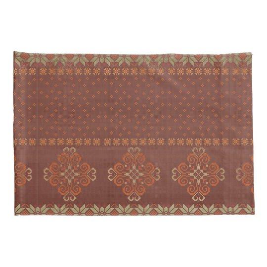 Christmas knitted pattern pillowcase