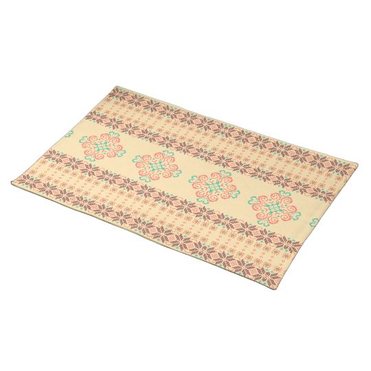 Christmas knitted pattern placemat