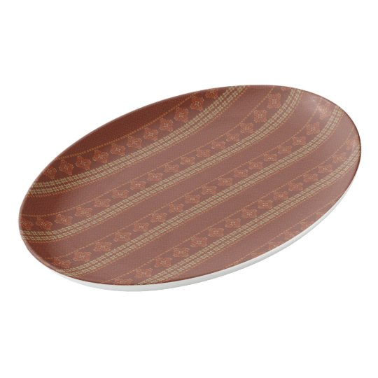 Christmas knitted pattern porcelain serving platter