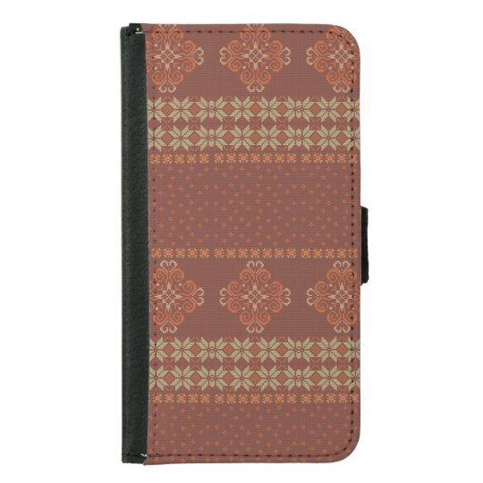 Christmas knitted pattern samsung galaxy s5 wallet case