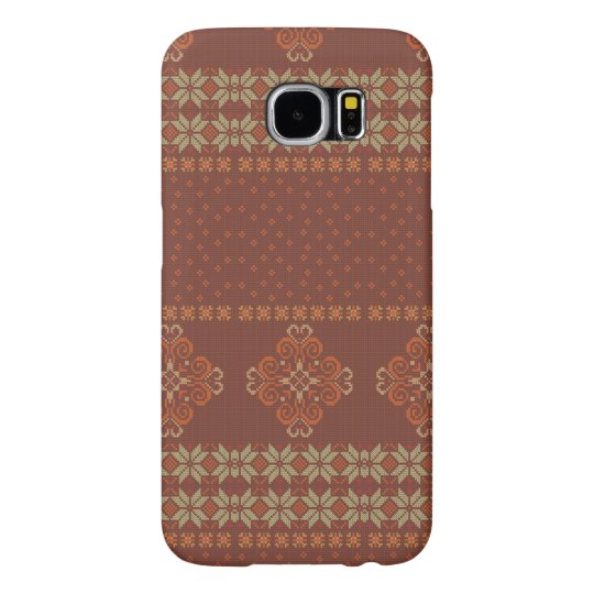 Christmas knitted pattern samsung galaxy s6 cases