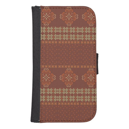 Christmas knitted pattern samsung s4 wallet case
