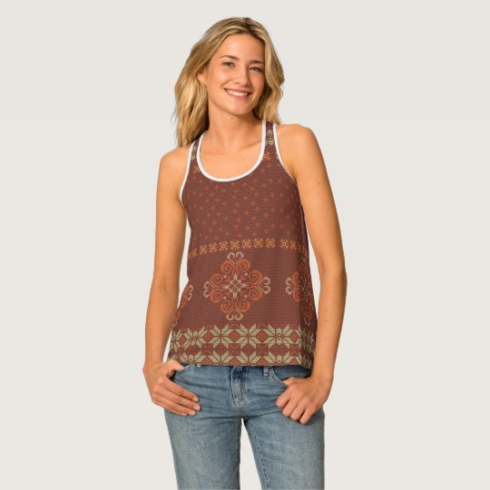 Christmas knitted pattern singlet