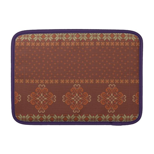 Christmas knitted pattern sleeve for MacBook air